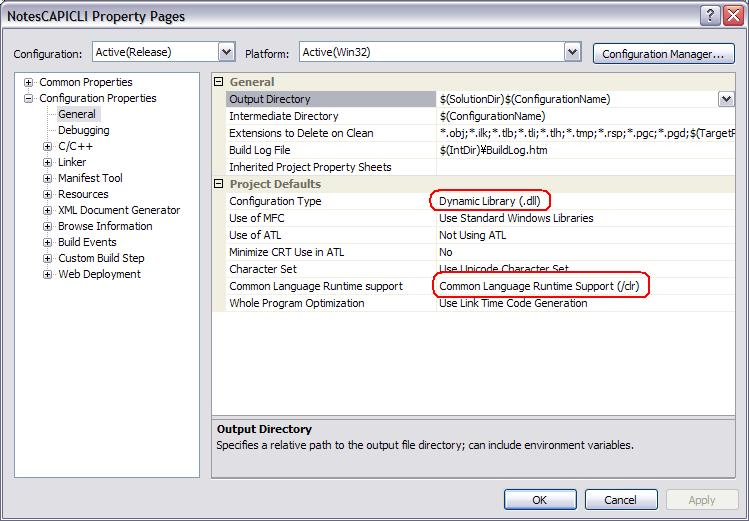 How to configure Notes C API with C++/CLI on Visual Studio