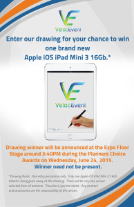 Velocevent Event App iPad Mini 3 Announcement at Booth